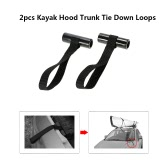 2pcs Shoreline Marine Kayak Canoe Hood Trunk Vehicle Hatchback Tie Down Loops