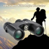 Visionking HD 10X26 Waterproof Compact Binocular BaK4 Roof Prism Wide Angle Powerful Zoom Binoculars Outdoor Portable Lightweight Birdwatching Hunting Telescope