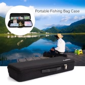 Portable Fishing Bag Case EVA Shockproof Fishing Rod and Reel Carry Bag Fishing Pole Storage Bag Case Fishing Hunting Tackle Tool Gear Organizer