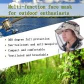 蚊・ハチ 虫除け帽子 メッシュフェイスプロテクター モスキートヘッドネット 農作業 ガーデニング アウトドアに