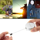 TOMSHOO 63cm Retractable Reel Key Chain Key Ring Belt Clip