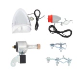 Bicycle Lights Set Kit Bike Safety Front Headlight Taillight Rear Light No Batteries Needed