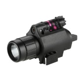 Docooler Compact Tactical Flashlight Torch & Red Dot Sight Combo with Rail Mount for Hunting Game Outdoor