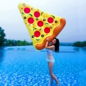 180*150cm Giant Swim Inflatable Pizza Pool Floats Floating Pool Toy Adults Children Fun Pool Parties Sunbathing