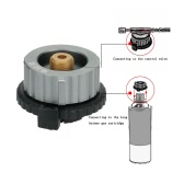 Outdoor Camping Stove Conversion Head Convert Adapter Nozzle Gas Bottle Screw for Long Butane Gas Cartridge