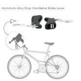 1 Pair Road Bicycle Bike Front & Rear Brake Levers Aluminum Alloy Drop Handlebar Brake Lever Set