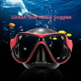 Lixada Adult Scuba Snorkeling Swimming Tempered Glass Diving Mask Goggles