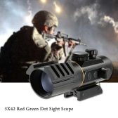Tactical Red Green Dot Sight 3X42 Scope Fit Rail Mount 11mm/20mm Riflescope Hunting Shooting