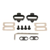 Lixada Bicycle Mountain Cleat Biking MTB Cleat Set Clips Kit W/Hardware Nuts Clip-in Cleats for Shimano SPD Pedals