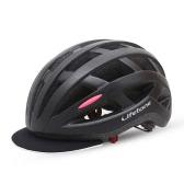 USB充電内蔵インモールドアウトドア自転車自転車MTBロードバイクヘルメット、LEDリアライト26 Ventsヘルメット