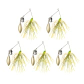 5pcs 14g Fishing Lures Artificial Baits Fishing Spinners Kit Jig Hook Willow Colorado Spinnerbaits Bass Catfish Spoon Sequins Lures