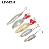 Lixada 30pcs Fishing Sequins Spoon Paillette Blades Split Rings Sea Fishing Hard Lures Baits Fishing Tackle Kit with Case