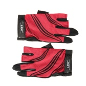 LEO 1 Pair Fishing Gloves Breathable Anti-slip 3 Fingerless Fishing Gloves Outdoor Sports Cycling Camping Running