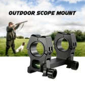 Outdoor Scope Mount with Bubble Level for 30mm / 1 inch Ring Hunting Dual Ring Riflescope Mount