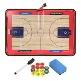 Magnetic Basketball Coach Board Erasable Folding Tactics Coaching Board Clipboard with Zipper