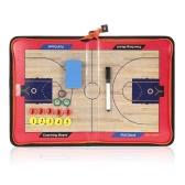 磁気バスケットボールコーチボード消去可能な折りたたみ戦術コーチングボードクリップボードジッパー付き