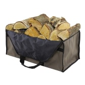 Outdoor Camping Large Wood Bag Oxford Cloth Bag Log Carrier Tote Charcoal Wood Firewood Holder 2 Handles Bag