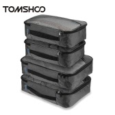 TOMSHOO 4pcs Packing Cubes Clothing Organizer Travel Kit Bags Storage Bags