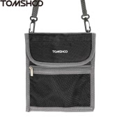 TOMSHOO Travel Neck Pouch Holder Pockets for Passport Money Credit Cards Cell Phone Documents