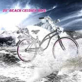 """Lixada 26"""" Carbon Steel Bike Bicycle Beach Cruiser Bike"""