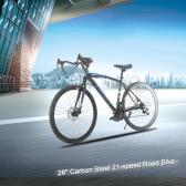 """Lixada 26"""" Carbon Steel Bike 21-speed Derailleur Road Bike Bicycle"""