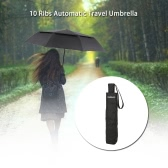 TOMSHOO Windproof Double Canopy Umbrella Automatic Auto Open Close Umbrella Automatic Folding Travel Golf Umbrella with 10 Ribs