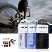 SAHOO Mini Portable Bicycle Tire Repair Kit Tool Set Cycling Bike Maintenance Kit Tyre Patch Lever Glue with Box