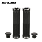 GUB 1 Pair of Bike Bicycle MTB Bike Handlebar Locking End Grips Anti-slip Cycling Handlebar Hand Grips with End Plugs Caps for Folding Mountain Bikes