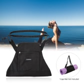 TOMSHOO Yoga Mat Carrier Exercise Yoga Mat Bag Shoulder Bag for Gym Fitness Sports Workout Travel