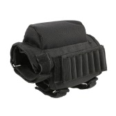 Portable Adjustable Buttstock Cheek Rest Pouch Holder with Ammo Carrier Case Cartridge Bag