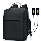 2つのUSBプラグ充電ポート付きビジネスラップトップ旅行バックパック