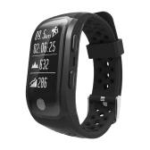 IP68 Waterproof Sports Smart Bracelet BT GPS Waterproof Wristband Strap Pedometer Fitness Tracker with Heart Rate Monitor