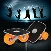Portable Drift Skates Road Drifting Roller Skate Board Plate with Aluminum Pedal and PU Wheels