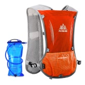 AONIJIE Reflective Vest Sport Water Bottle Backpack Bag for Running Cycling Clothes Safety Gear with 1.5L Hydration Bladder