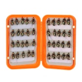 40pcs Fly Fishing Lure Kit Dry Fly Flies Baits Hooks Feather Wing for Trout Bass Fishing
