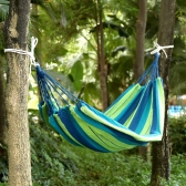 Outdoor Color Striped 2 People Hammock Thick Canvas Hammock Indoor Leisure Camping 180 * 150cm
