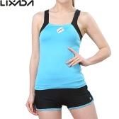 フィットネスジムを実行するためのスポーツシングレットトップブラ+ショーツセットLixada女性ノースリーブ通気性のヨガ