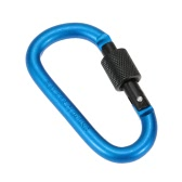 TOMSHOO 1 Piece Outdoor Camping Equipment Aluminum Alloy D Shape 8MM Carabiner Screw Lock Buckle Snap Clip Backpack Hanging Keychain Hook