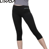 Lixada Women Tight Yoga Pants Soft Quick-dry Capri Pants Sports Leggings for Yoga Running