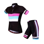 Women Breathable Comfortable Short Sleeve Padded Shorts Cycling Clothing Set Riding Sportswear