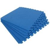 6 Pcs 60*60cm Protective Floor Mat Anti-Fatigue Interlocking EVA Foam Exercise Gym Flooring Carpet Cushion