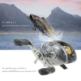 9+1BB 6.3:1 Left/Right Hand Baitcasting Fishing Reel Aluminum Bait Casting Spinning Baitcast Reels