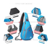 AONIJIE Packable Shoulder Backpack Sling Chest CrossBody Bag Cover Pack Rucksack for Bicycle Sport Hiking Travel Camping Bookbag Men Women