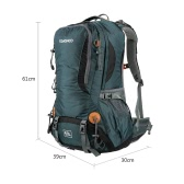 TOMSHOO 50L Versatile Outdoor Hiking  Camping Climbing Travel Home Backpack Pack Bag Water Repellent Backpack with Rain Cover Rainproof