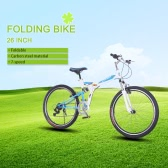 "Lixada 26"" Folding Carbon Steel Bike 7-speed Portable Bicycle Fold Storage"