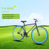 "Lixada High-configuration 26"" Carbon Steel Single Speed Bike Fixed Gear Bicycle"
