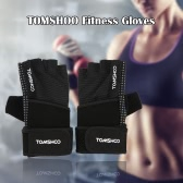 TOMSHOO Unisex Weight Lifting Gloves Fitness Gloves with Wrist Wrap Anti-slip Grip Design Breathable Comfortable