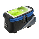 ROSWHEEL Bicycle Frame Pannier Front Top Tube Bag Water Resistant Bike Bag Pouch Cycling Touch Screen Mobile Phone Holder Bag for 5.7 Inch Cell Phone Bike Accessories
