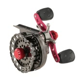 Lightweight 2.6:1 Gear Ratio Fishing Raft Fishing Ice Reel Fly Reel Wheel Right/Left Hand Aluminum Alloy Reel Smooth Release Star Drag Fishing Tackles with Storage Pouch