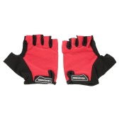 1 Pair of Lightweight Summer Riding Breathable Cushioned Half-finger Gloves Sports Cycling Gloves Washable